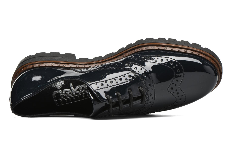 Chaussures à lacets Rieker Lisa 54812 Bleu vue gauche