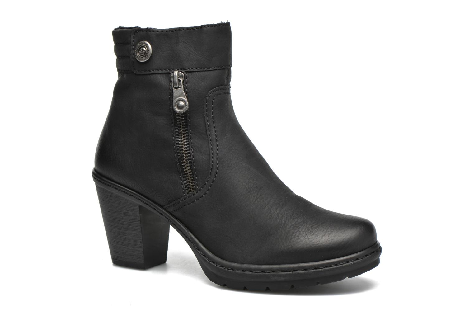 Ankle boots Rieker June Y1553 Black detailed view/ Pair view
