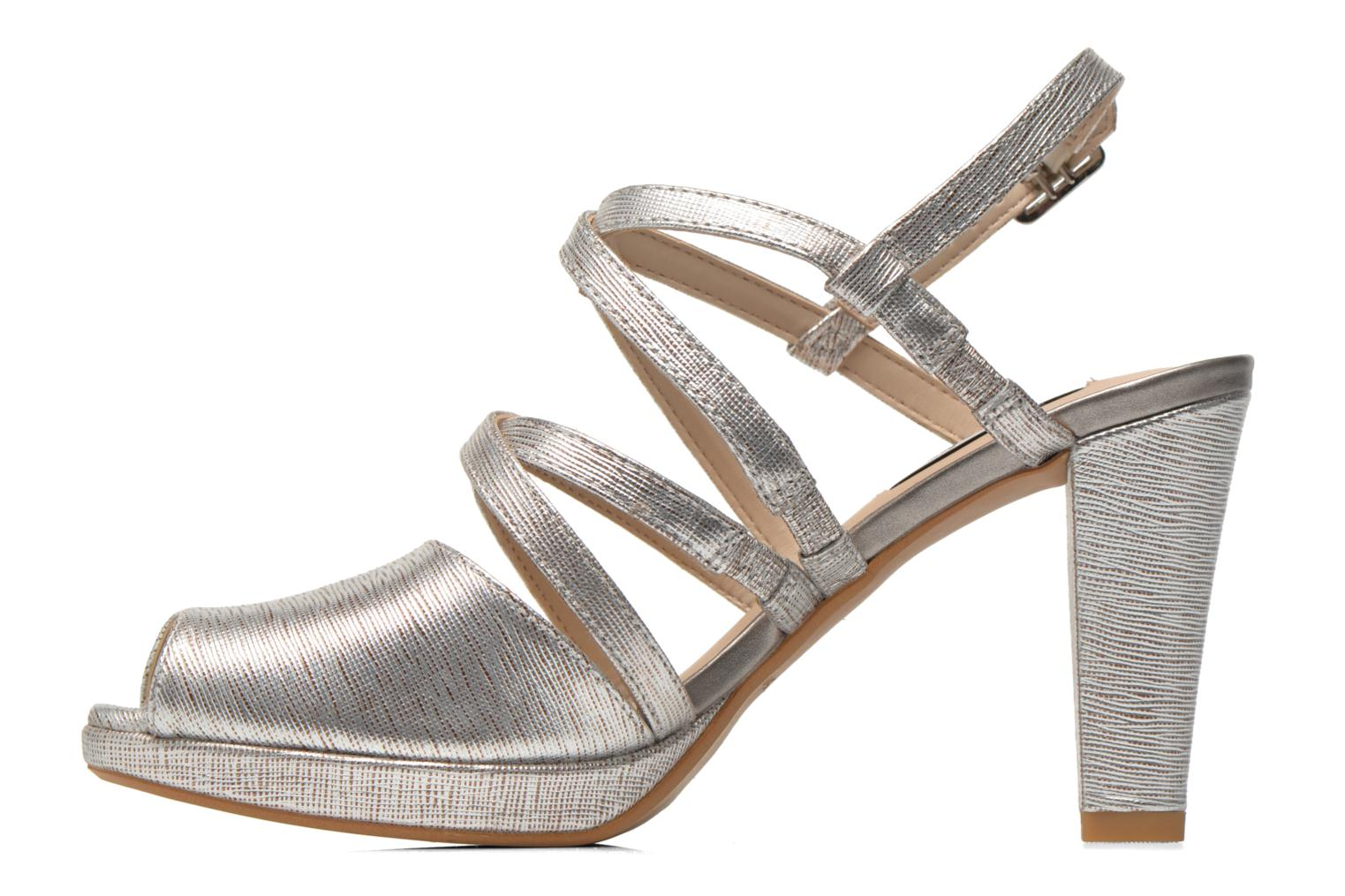 Sandals Clarks Kendra Cool Silver front view