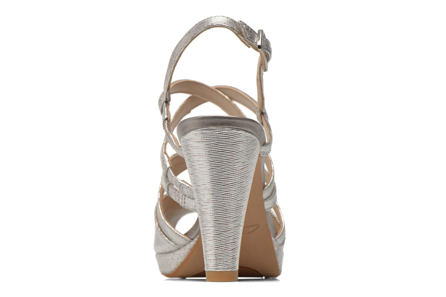 Sandals Clarks Kendra Cool Silver view from the right