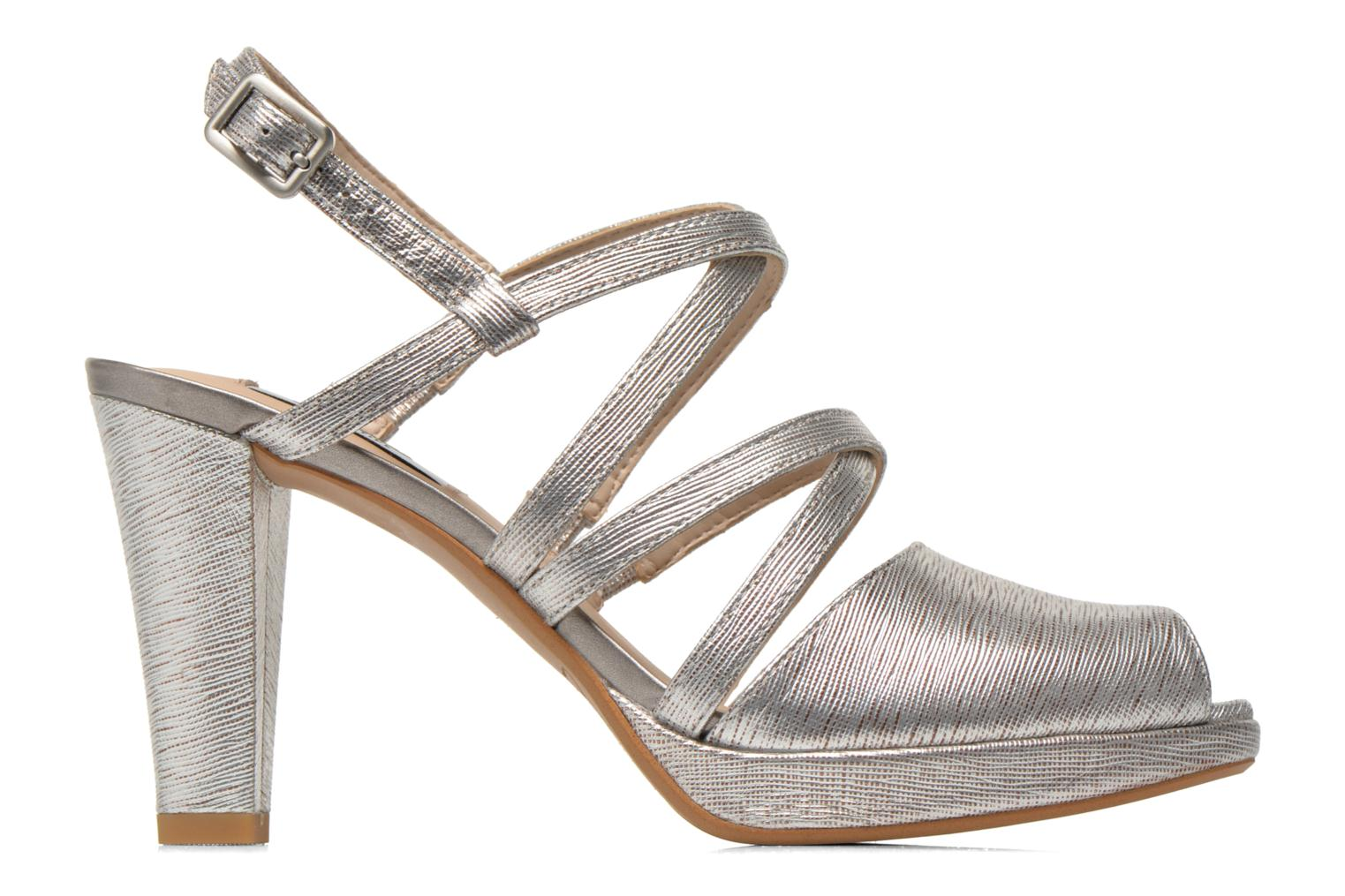 Sandals Clarks Kendra Cool Silver back view