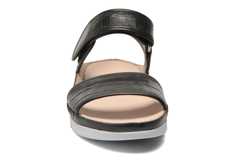 Sandalen Clarks Tri Nova schwarz schuhe getragen