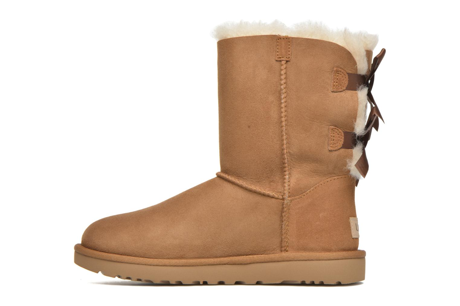 Botines  UGG Bailey Bow II Marrón vista de frente