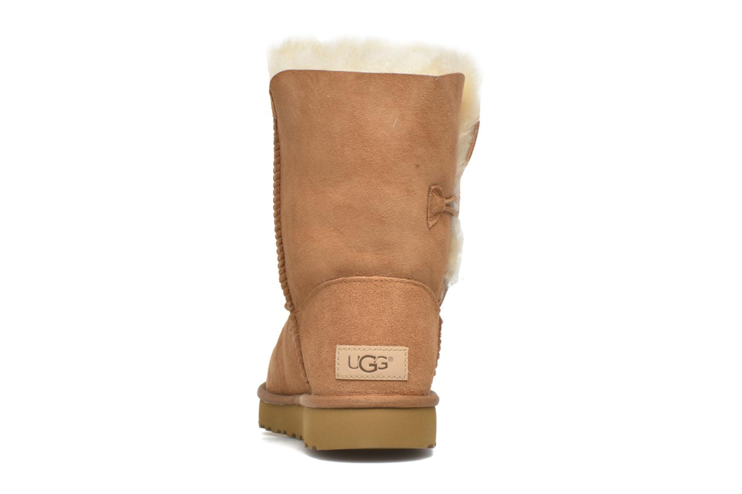 Bottines et boots UGG W Bailey Button II Marron vue droite