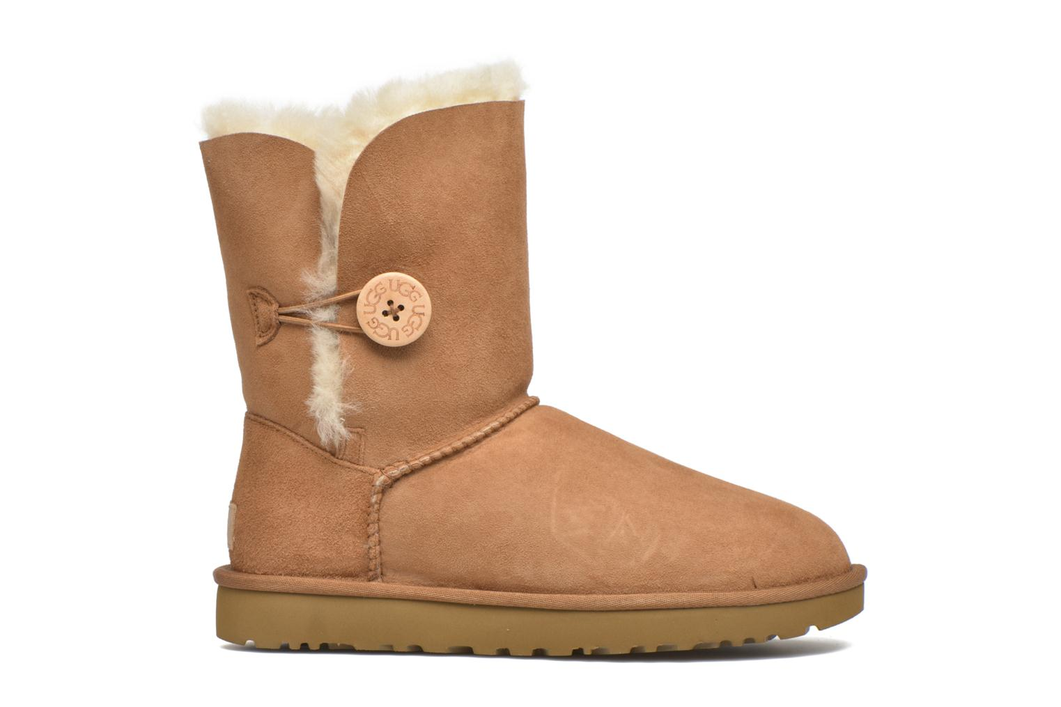 Ankle boots UGG W Bailey Button II Brown back view