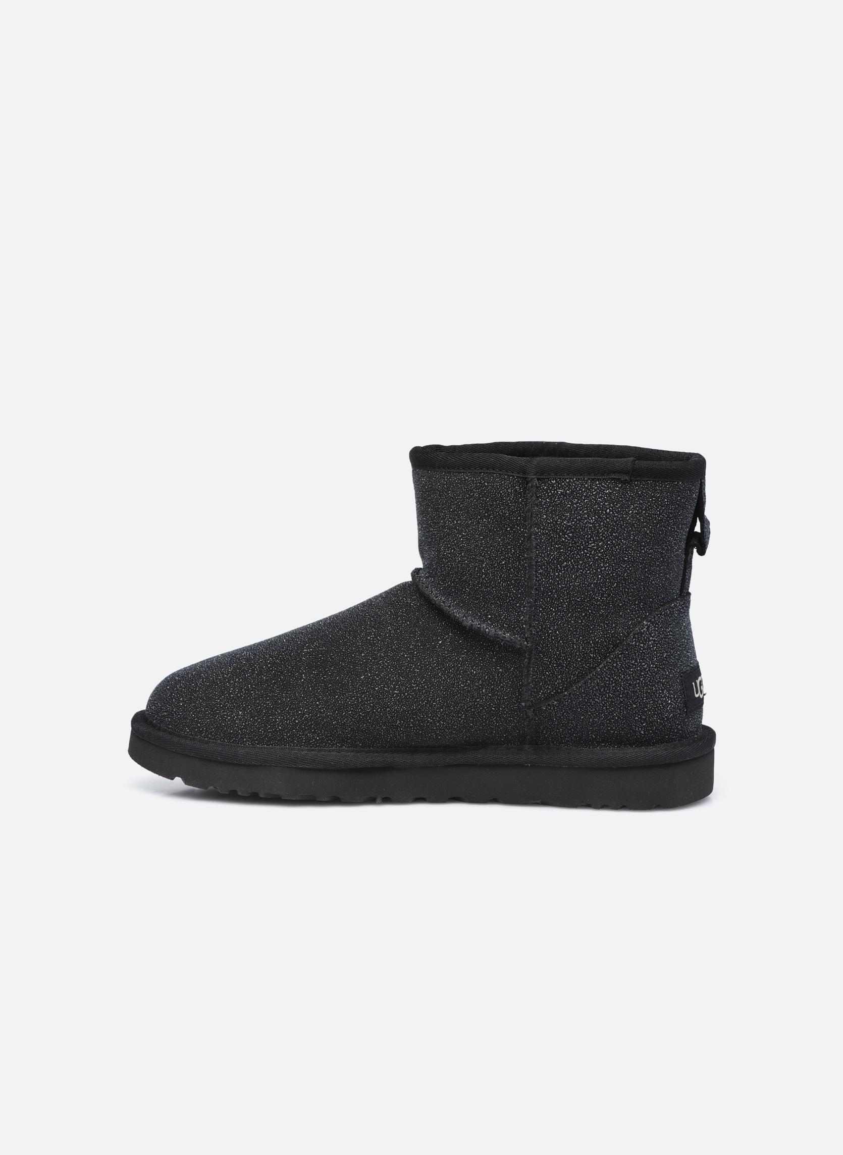 Bottines et boots UGG W Classic Mini Serein Noir vue face