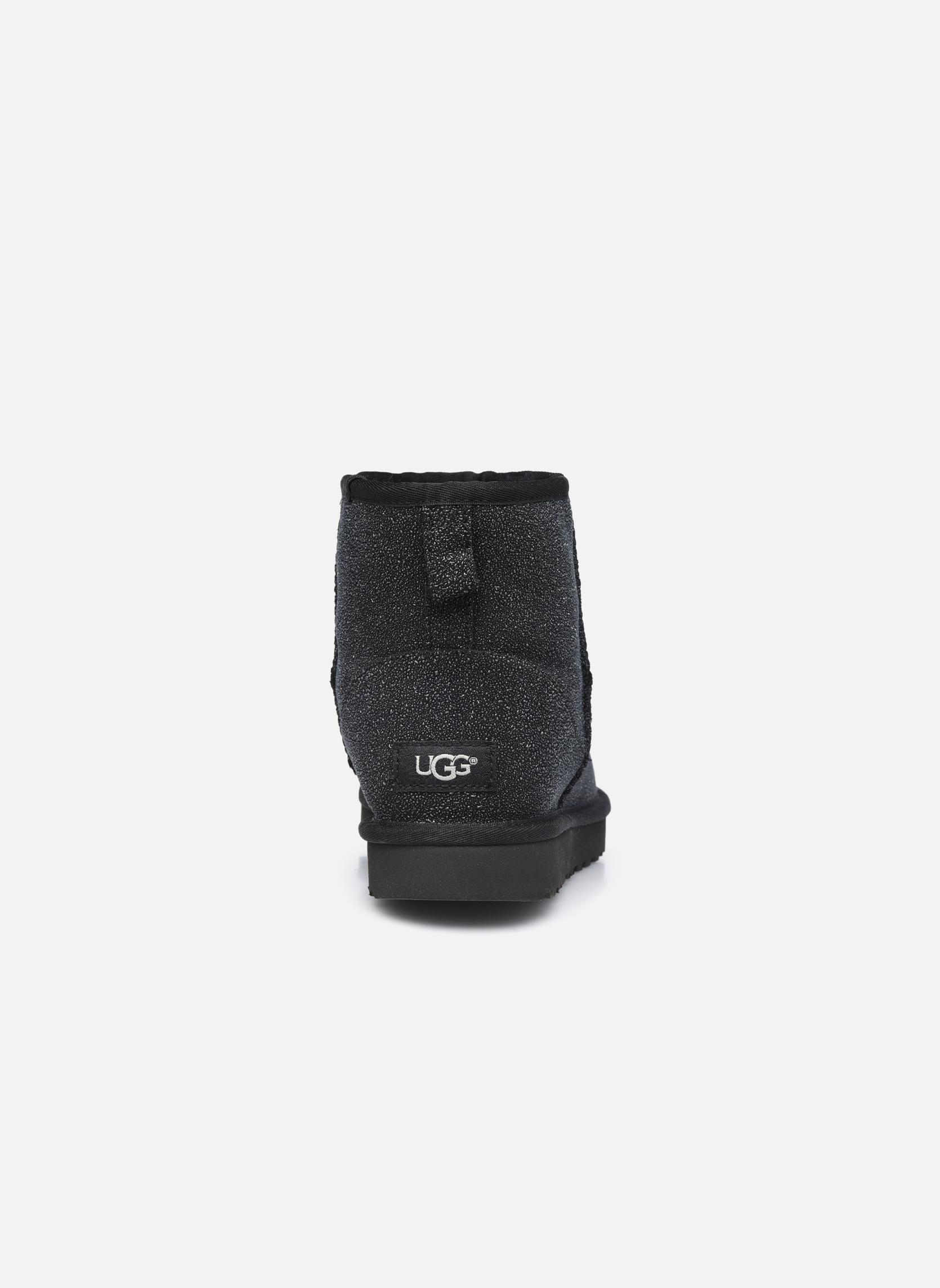 Bottines et boots UGG W Classic Mini Serein Noir vue droite