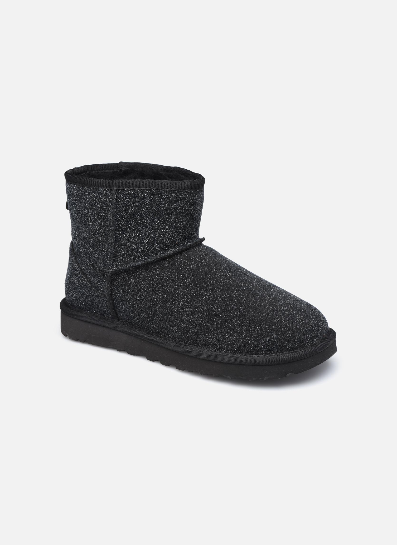 Bottines et boots UGG W Classic Mini Serein Noir vue détail/paire