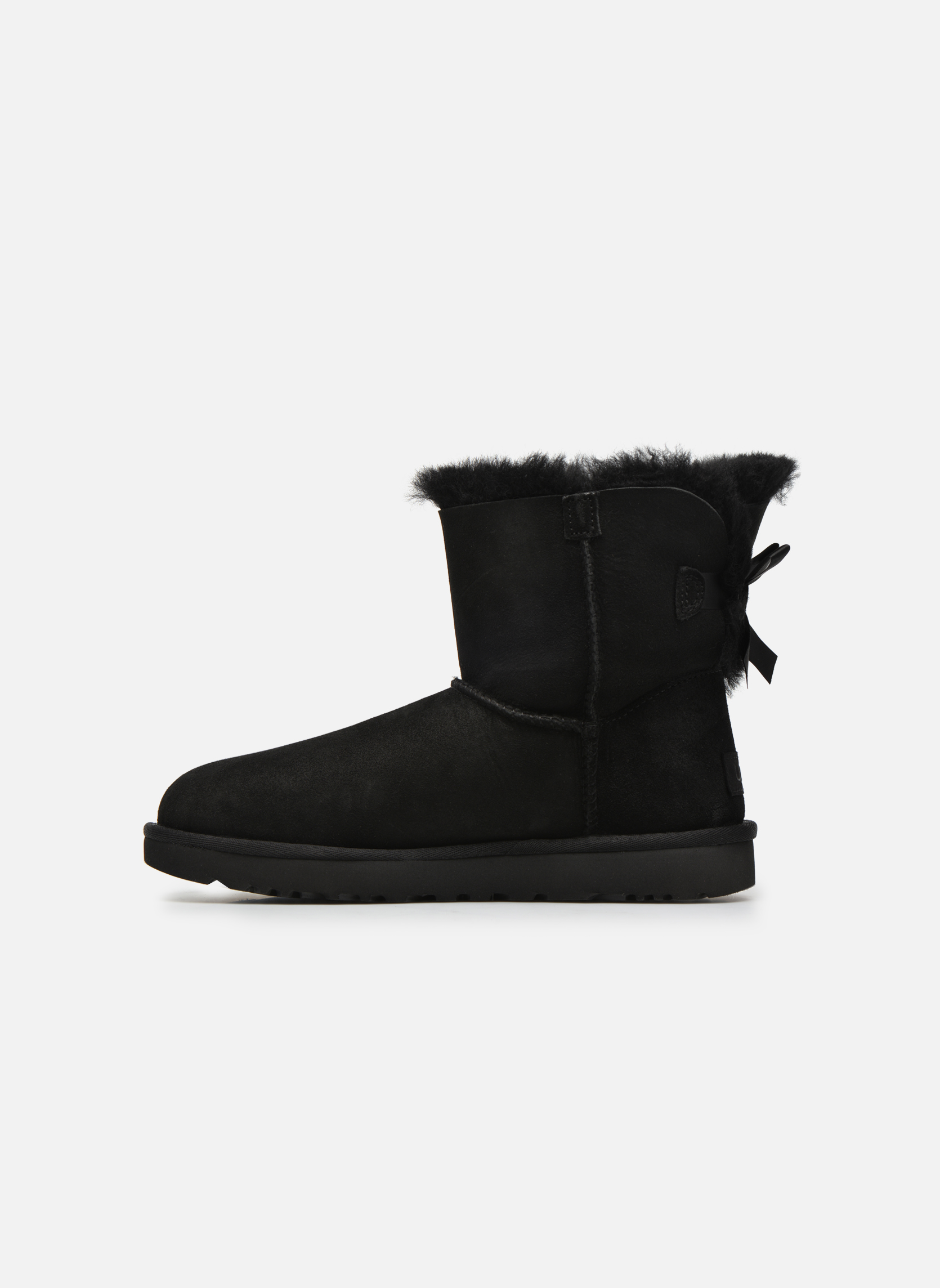 Bottines et boots UGG W Mini Bailey Bow II Noir vue face
