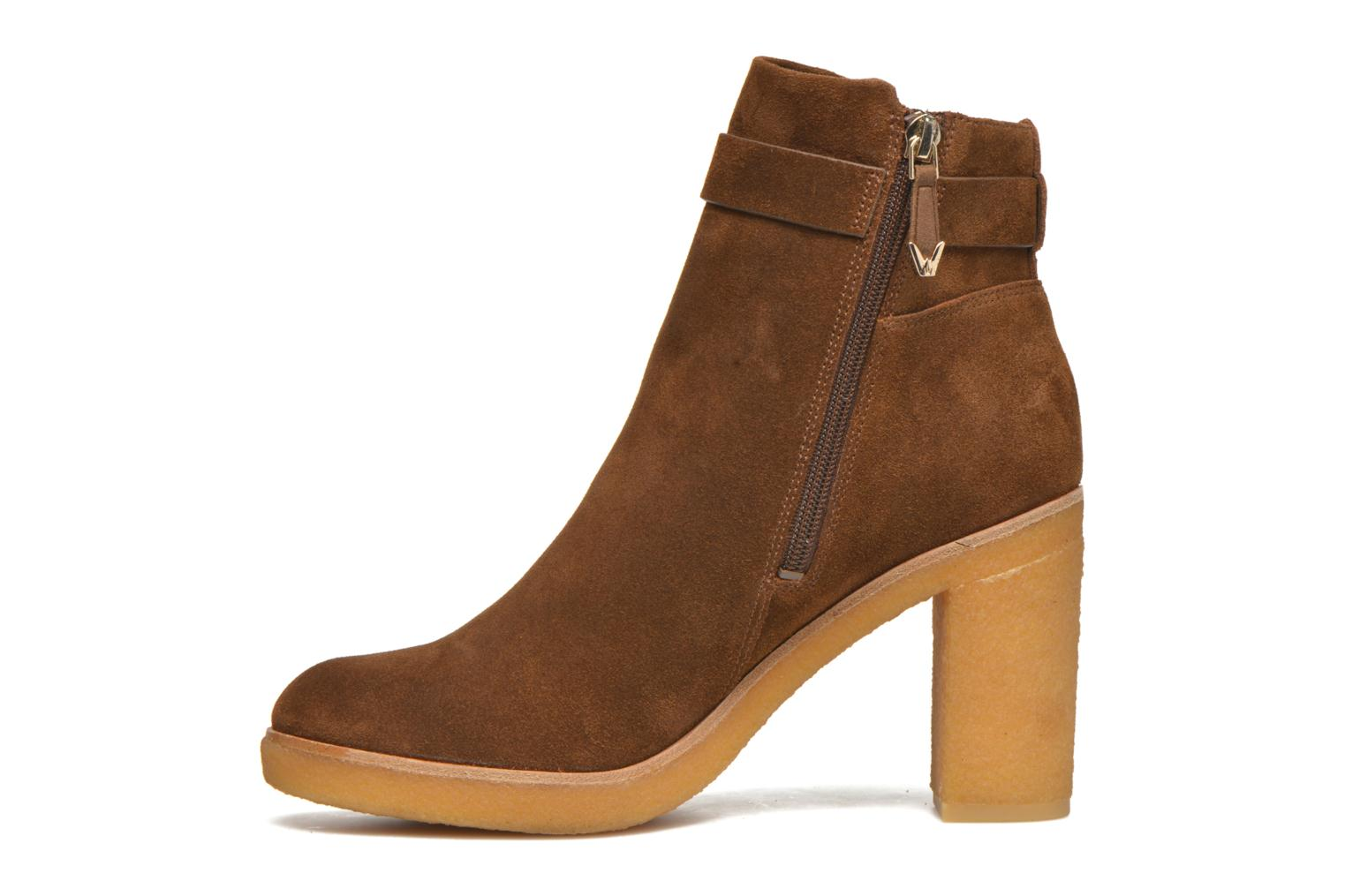 Ankle boots What For Ofo Brown front view