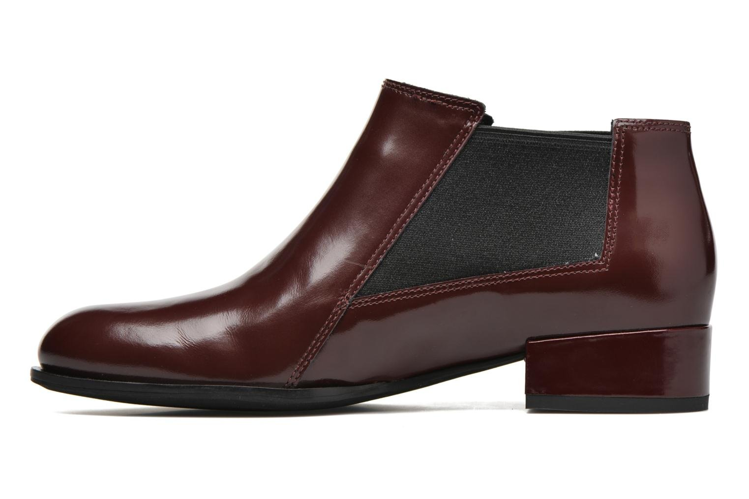 Ankle boots What For Sriso Burgundy front view
