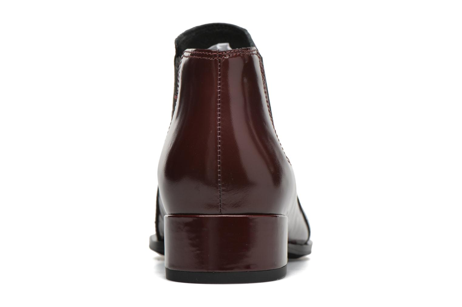 Ankle boots What For Sriso Burgundy view from the right