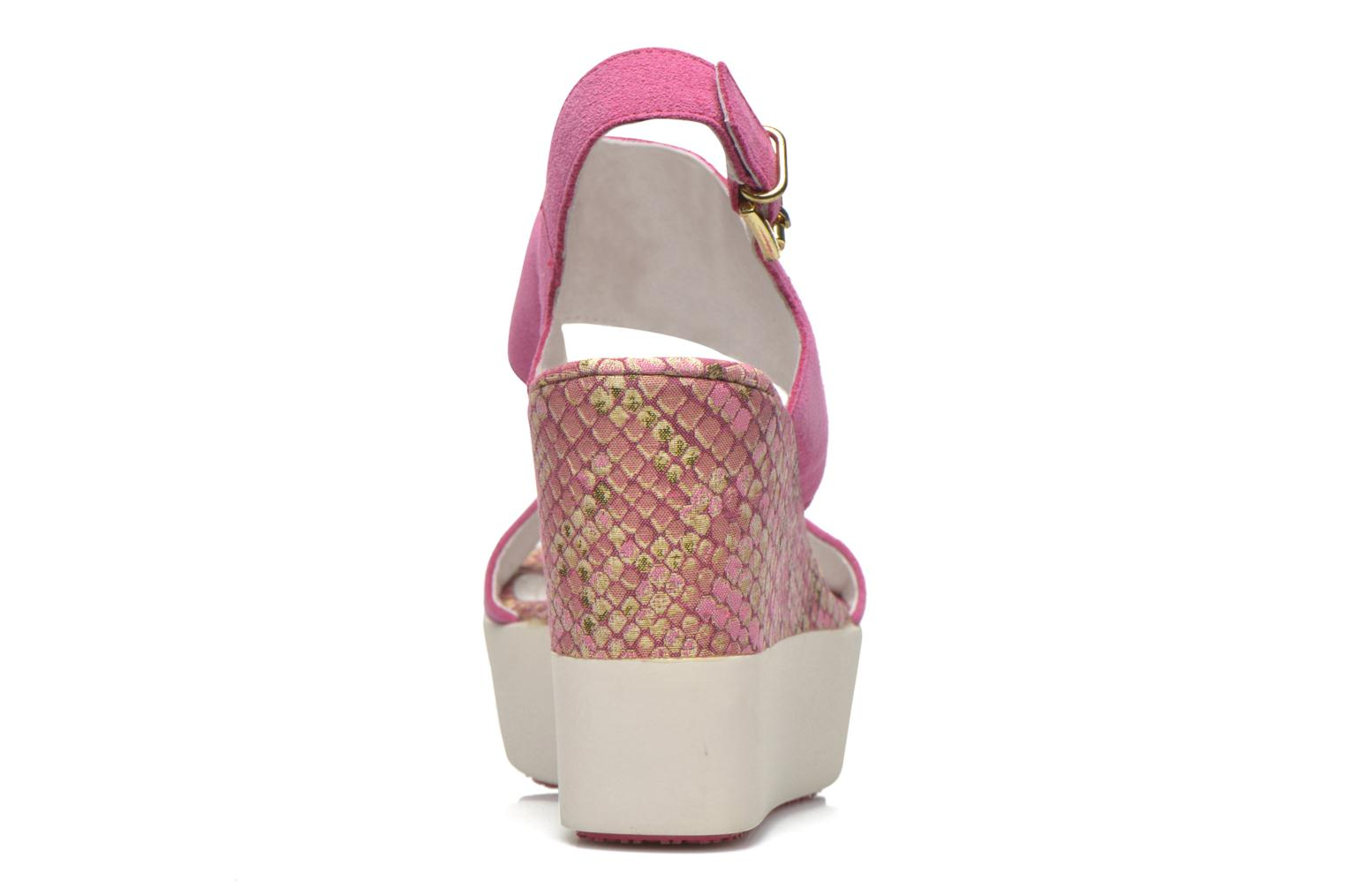 Sandals Stonefly Saint Tropez 7 Velour Pink view from the right