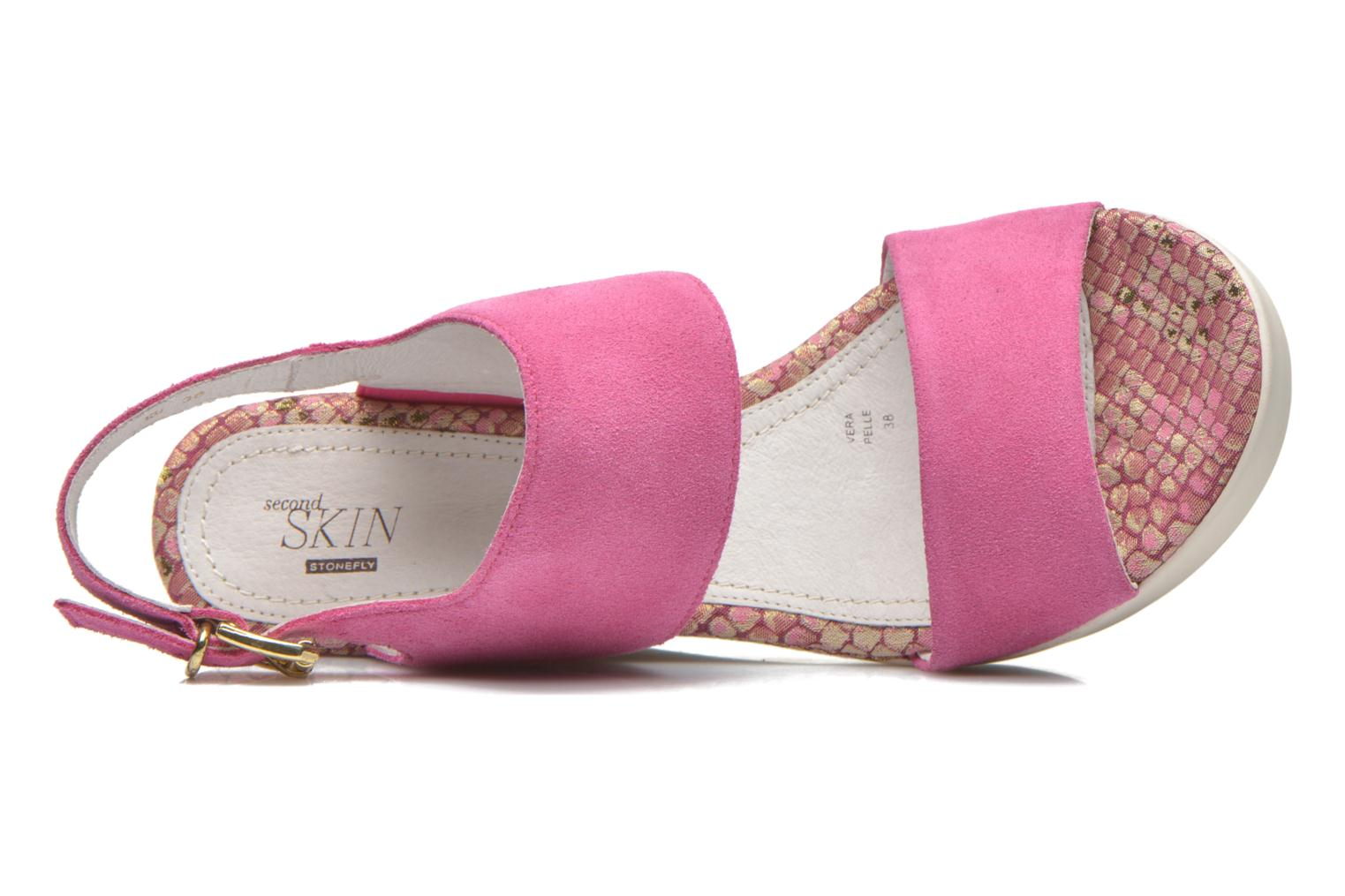 Sandals Stonefly Saint Tropez 7 Velour Pink view from the left