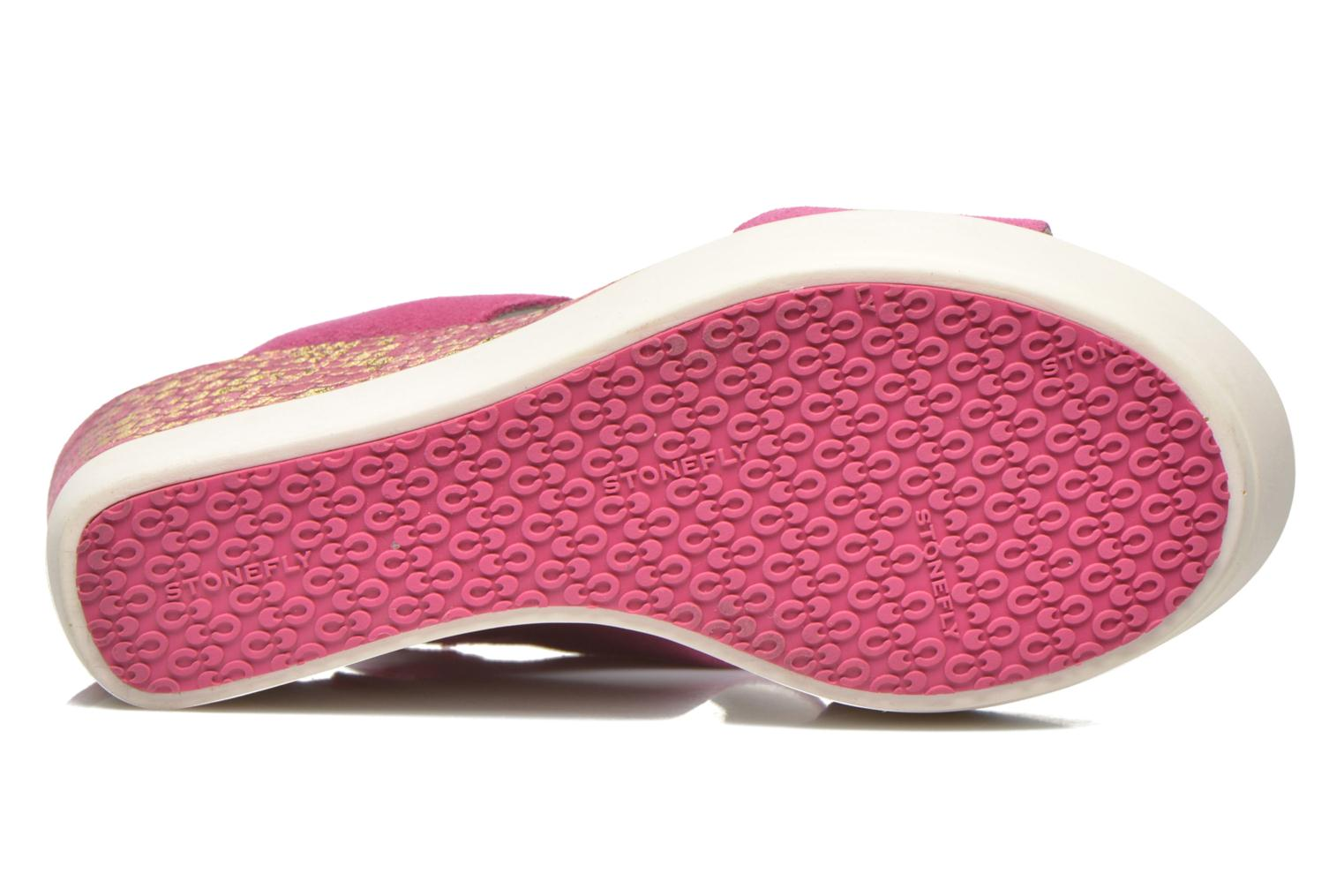 Sandals Stonefly Saint Tropez 7 Velour Pink view from above