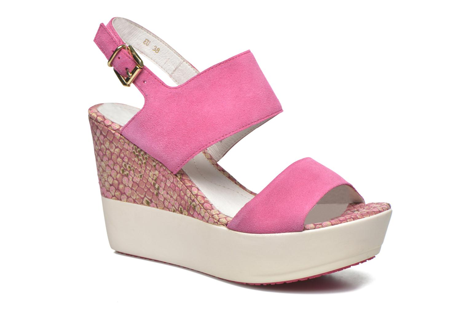 Sandals Stonefly Saint Tropez 7 Velour Pink detailed view/ Pair view