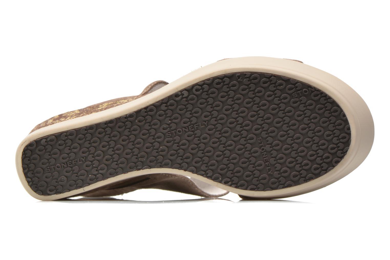 Sandales et nu-pieds Stonefly Saint Tropez 7 Velour Beige vue haut