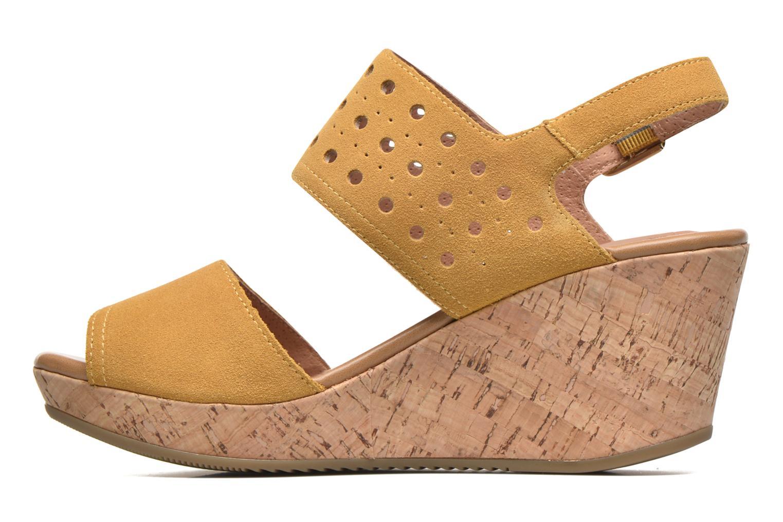 Sandales et nu-pieds Stonefly Marlene 19 Velour Jaune vue face
