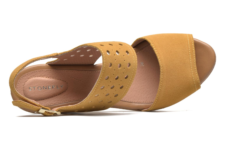Sandales et nu-pieds Stonefly Marlene 19 Velour Jaune vue gauche