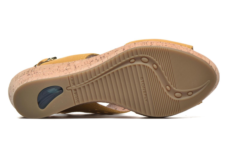 Sandales et nu-pieds Stonefly Marlene 19 Velour Jaune vue haut