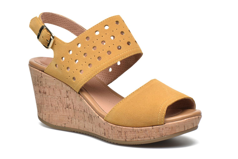 Sandales et nu-pieds Stonefly Marlene 19 Velour Jaune vue détail/paire
