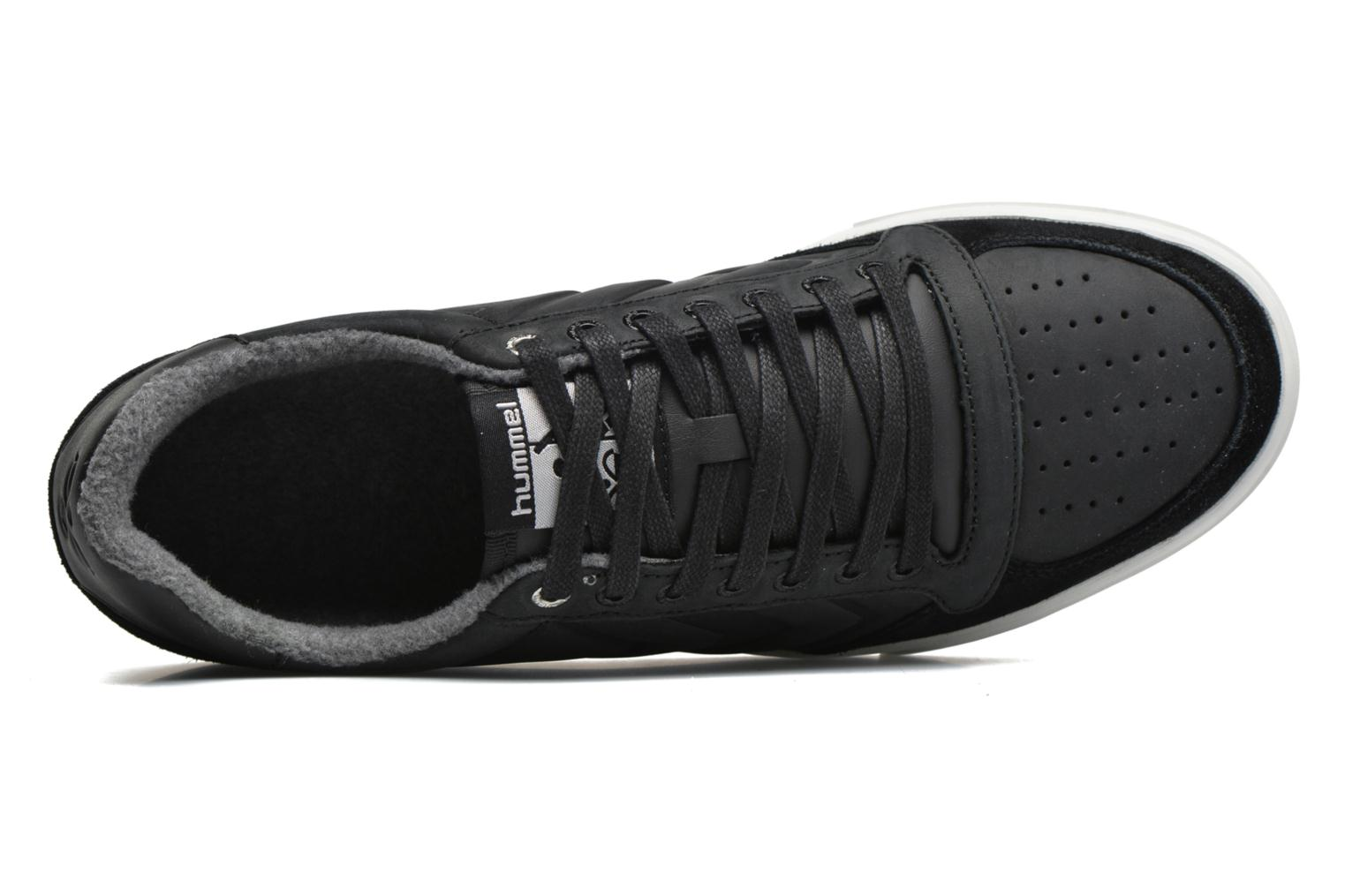 Sneaker Hummel Ten Star Mono Oiled Low schwarz ansicht von links