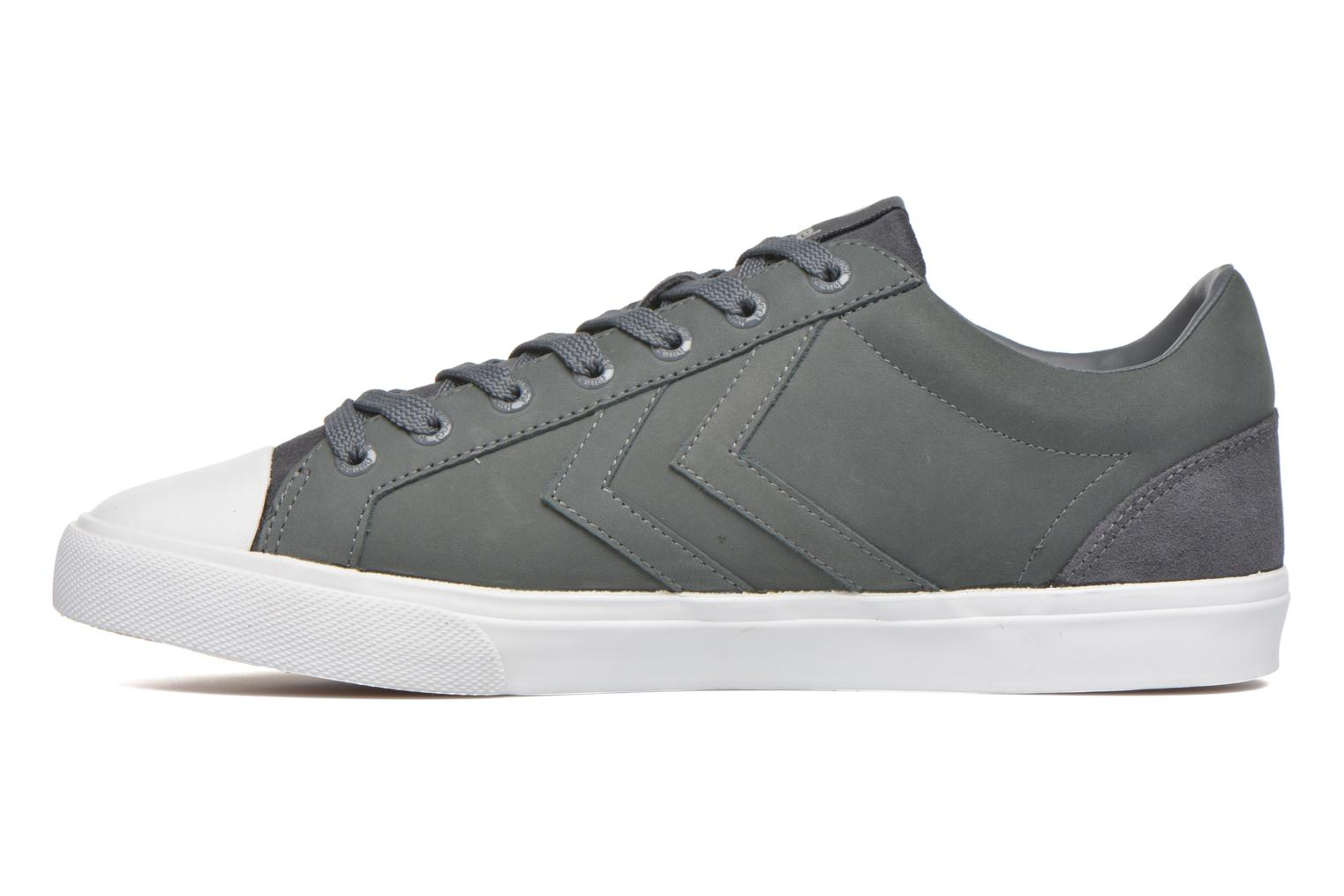 Trainers Hummel Baseline Court Leather Grey front view