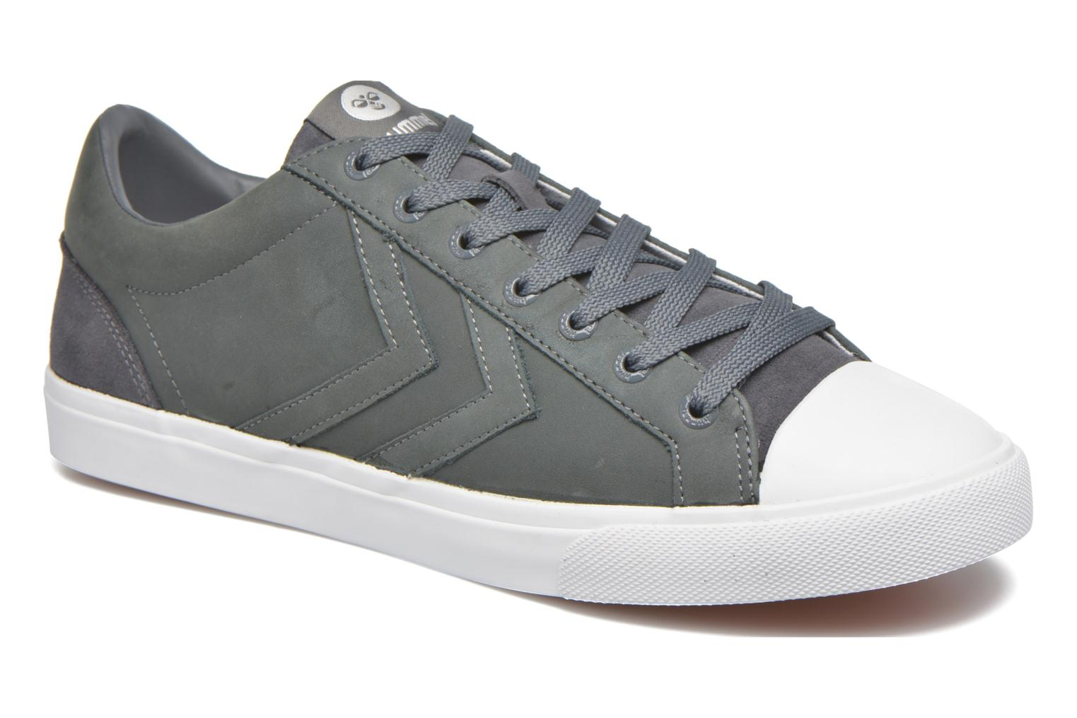 Trainers Hummel Baseline Court Leather Grey detailed view/ Pair view