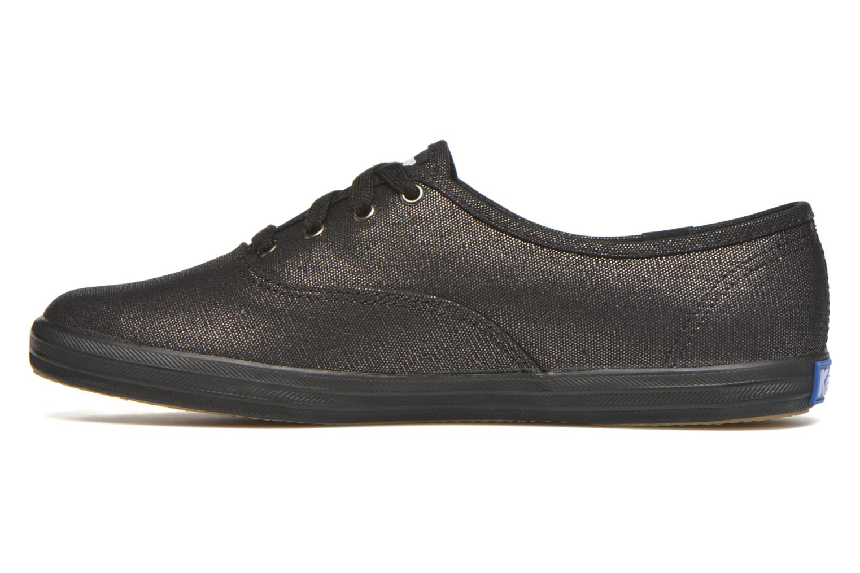 Sneaker Keds Ch Metallic Canvas schwarz ansicht von vorne