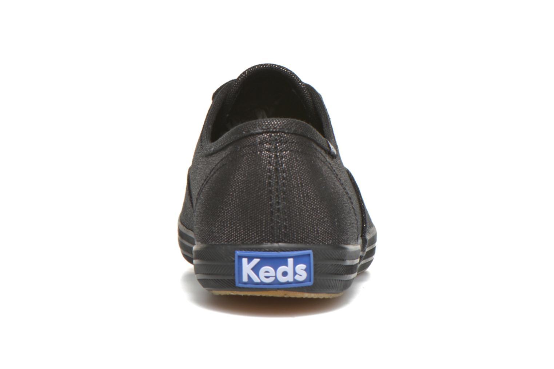 Sneaker Keds Ch Metallic Canvas schwarz ansicht von rechts