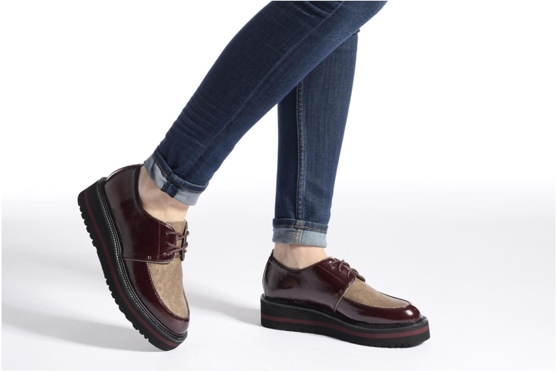 Chaussures à lacets No Name Blow Derby Crease / Skin Noir vue bas / vue portée sac