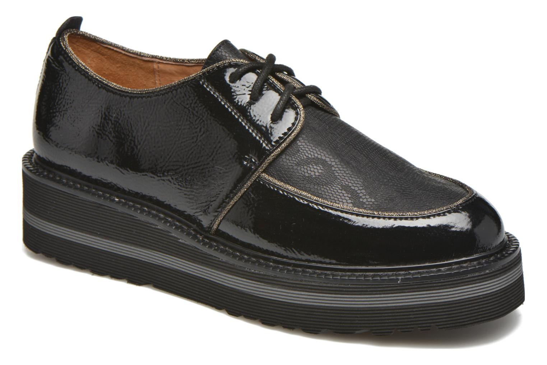 Chaussures à lacets No Name Blow Derby Crease / Skin Noir vue détail/paire