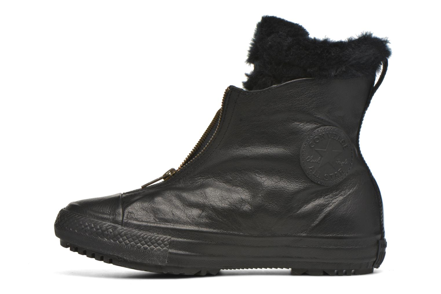 Baskets Converse Chuck Taylor All Star Boot Shroud Leather+Fur X-Hi Noir vue face
