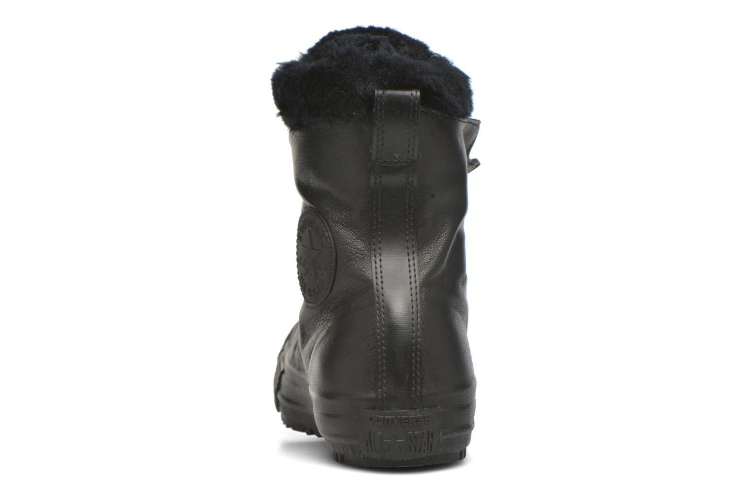 Trainers Converse Chuck Taylor All Star Boot Shroud Leather+Fur X-Hi Black view from the right