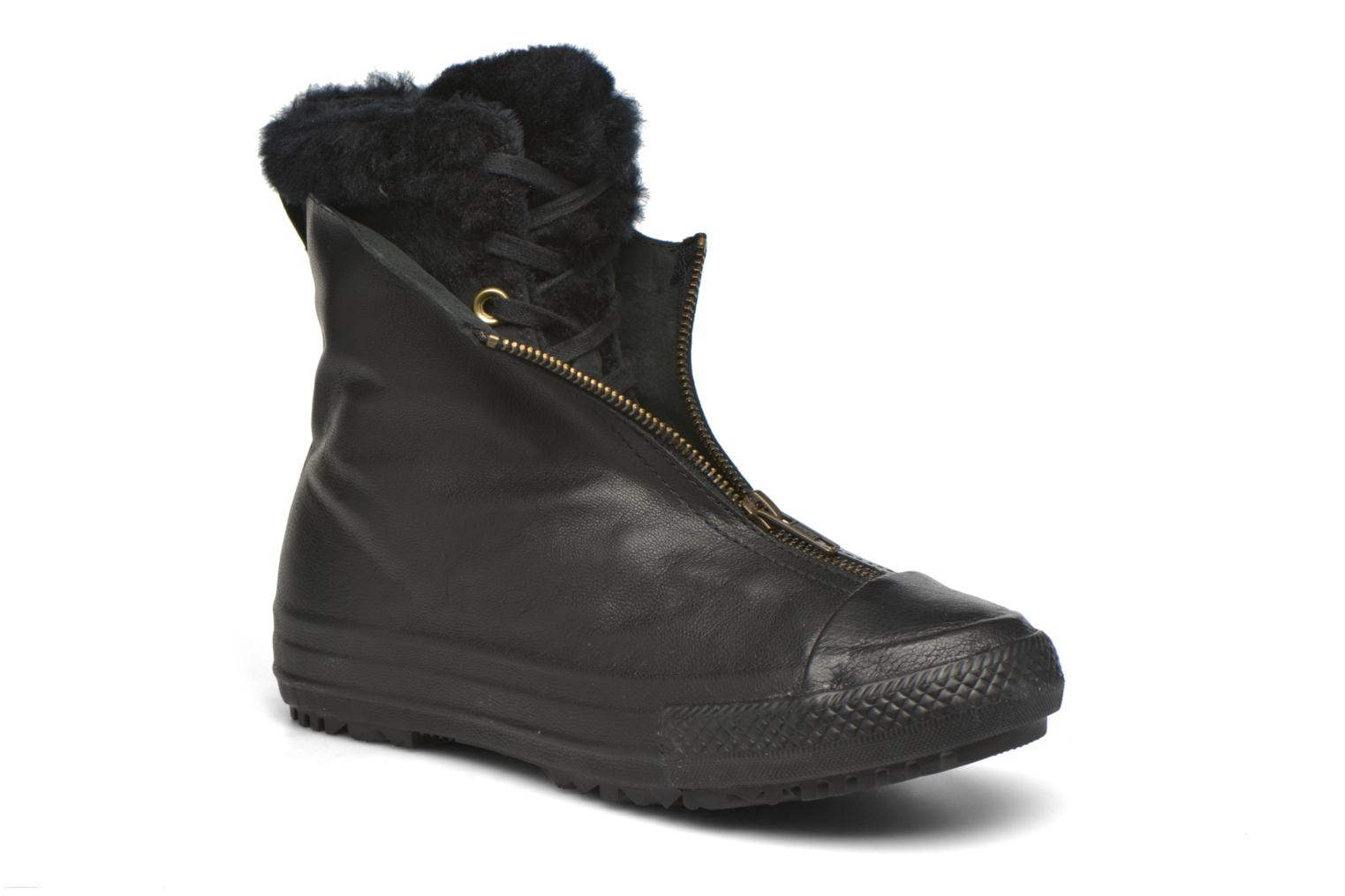 Trainers Converse Chuck Taylor All Star Boot Shroud Leather+Fur X-Hi Black detailed view/ Pair view