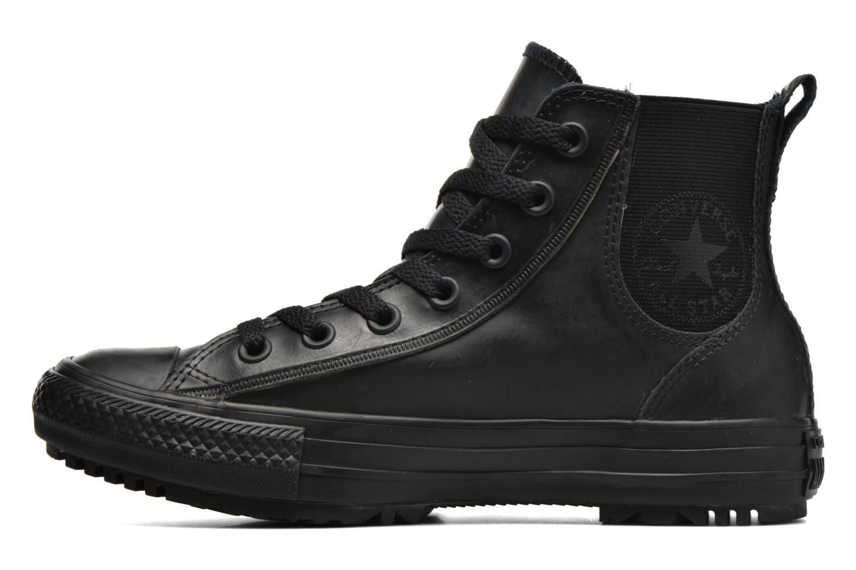 Baskets Converse Ctas Chelsea Boot Rubber Hi Noir vue face