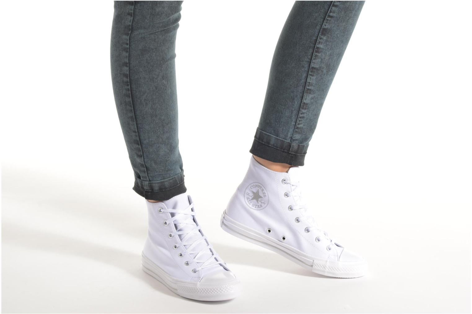 Trainers Converse Chuck Taylor All Star Gemma Twill Hi Black view from underneath / model view