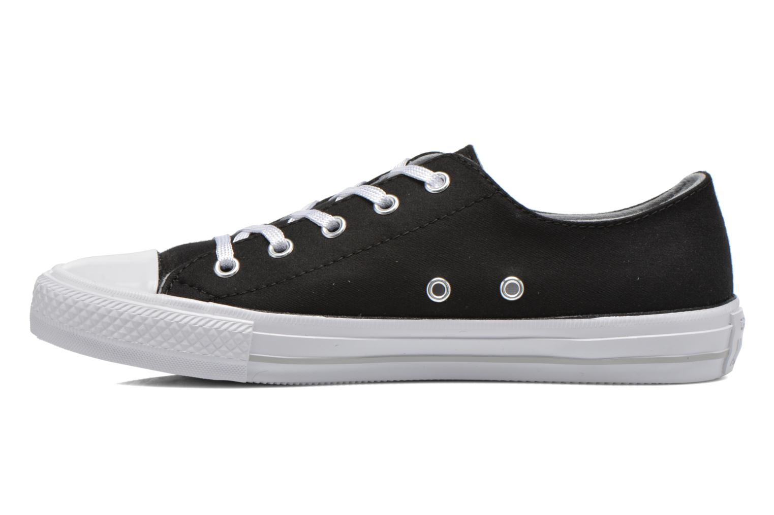 Sneakers Converse Chuck Taylor All Star Gemma Twill Ox Nero immagine frontale