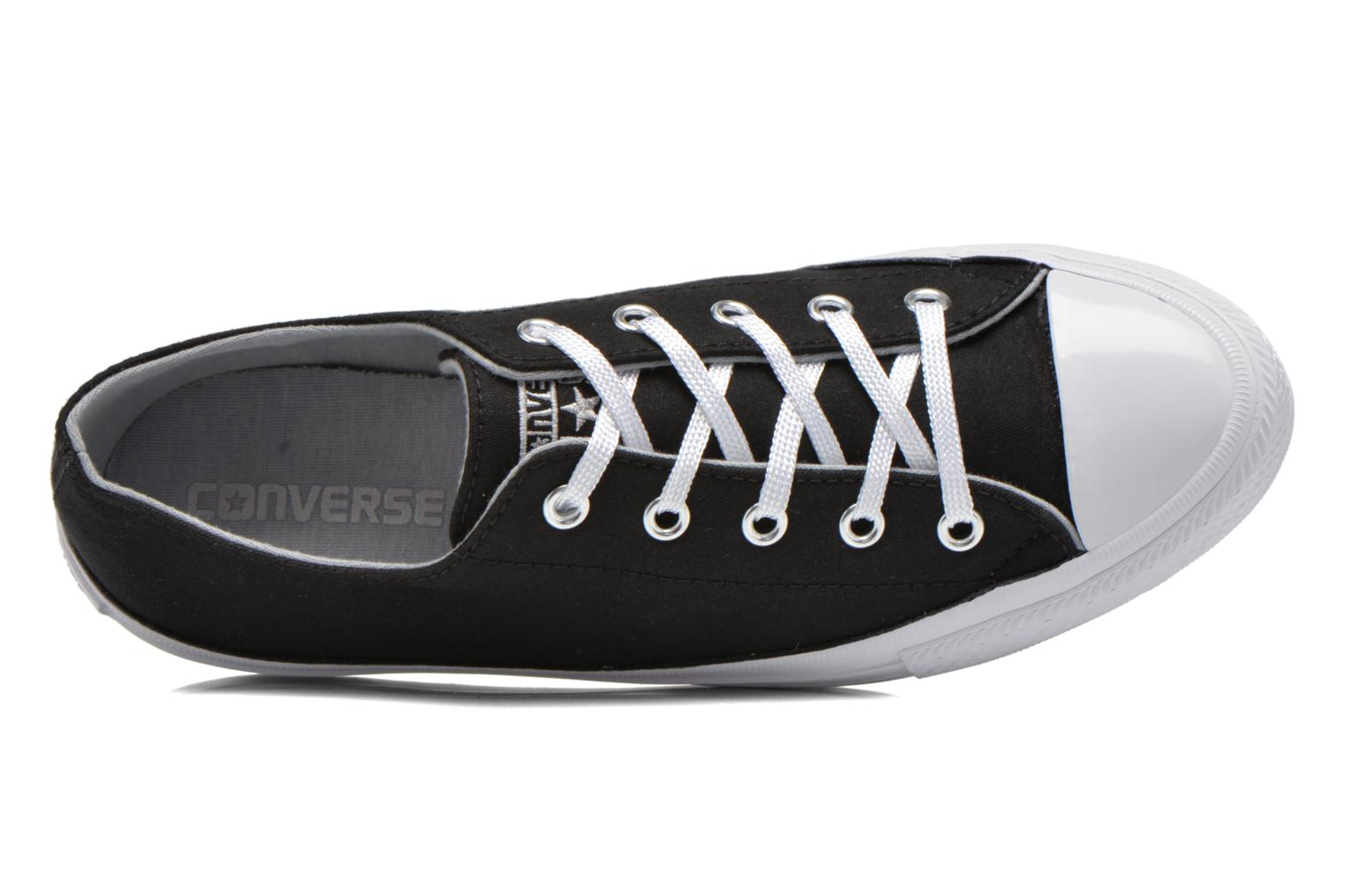 Sneakers Converse Chuck Taylor All Star Gemma Twill Ox Nero immagine sinistra
