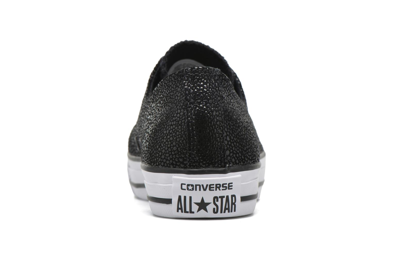 Trainers Converse Ctas High Line Metallic Leather Ox Black view from the right