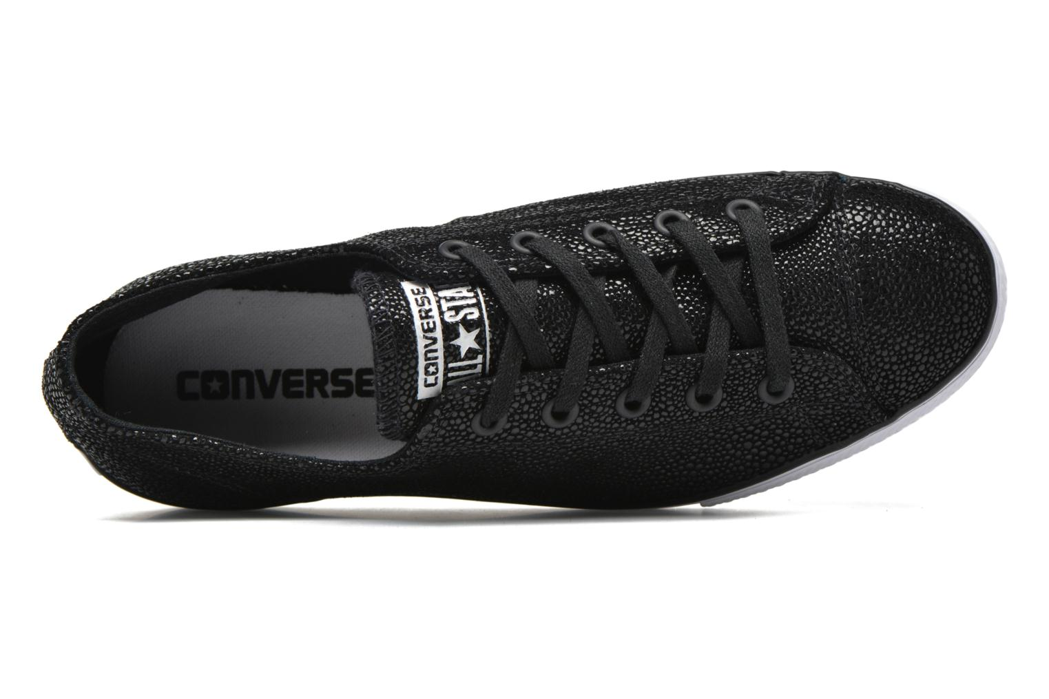 Trainers Converse Ctas High Line Metallic Leather Ox Black view from the left