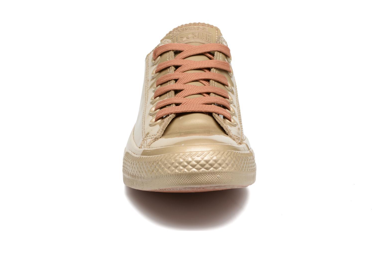 Sneaker Converse Ctas Metallic Rubber Ox W gold/bronze schuhe getragen