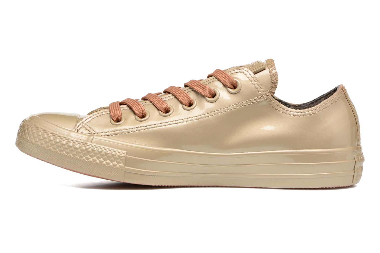 Sneaker Converse Ctas Metallic Rubber Ox W gold/bronze ansicht von vorne