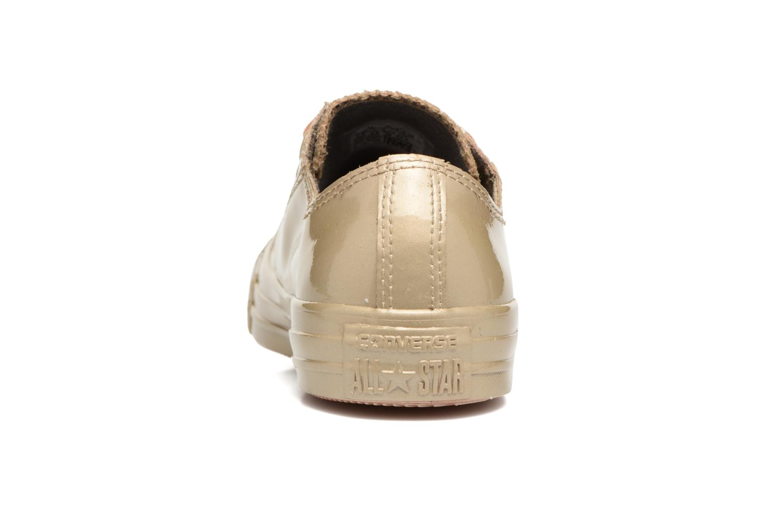 Trainers Converse Ctas Metallic Rubber Ox W Bronze and Gold view from the right