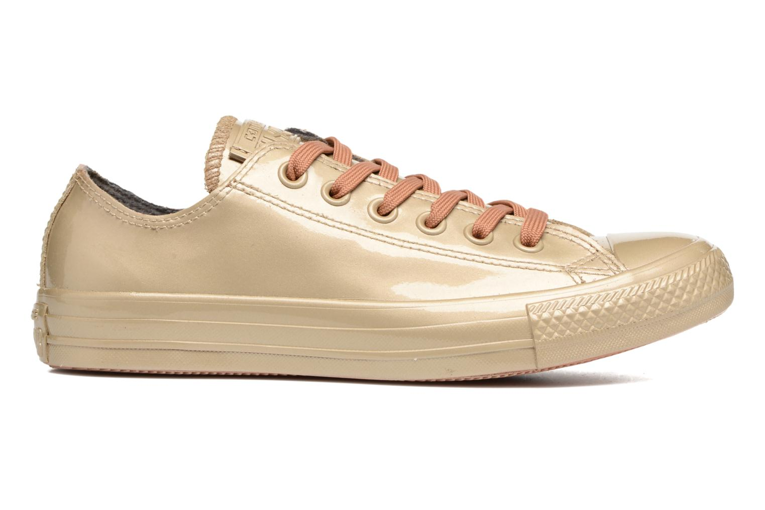 Trainers Converse Ctas Metallic Rubber Ox W Bronze and Gold back view