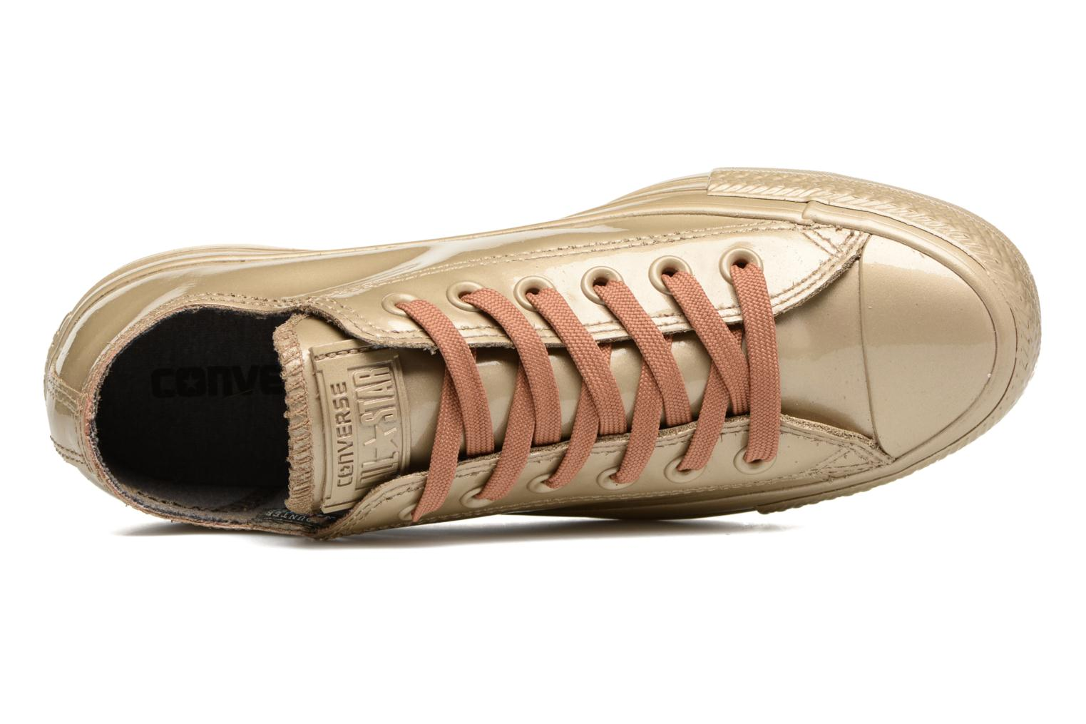 Trainers Converse Ctas Metallic Rubber Ox W Bronze and Gold view from the left