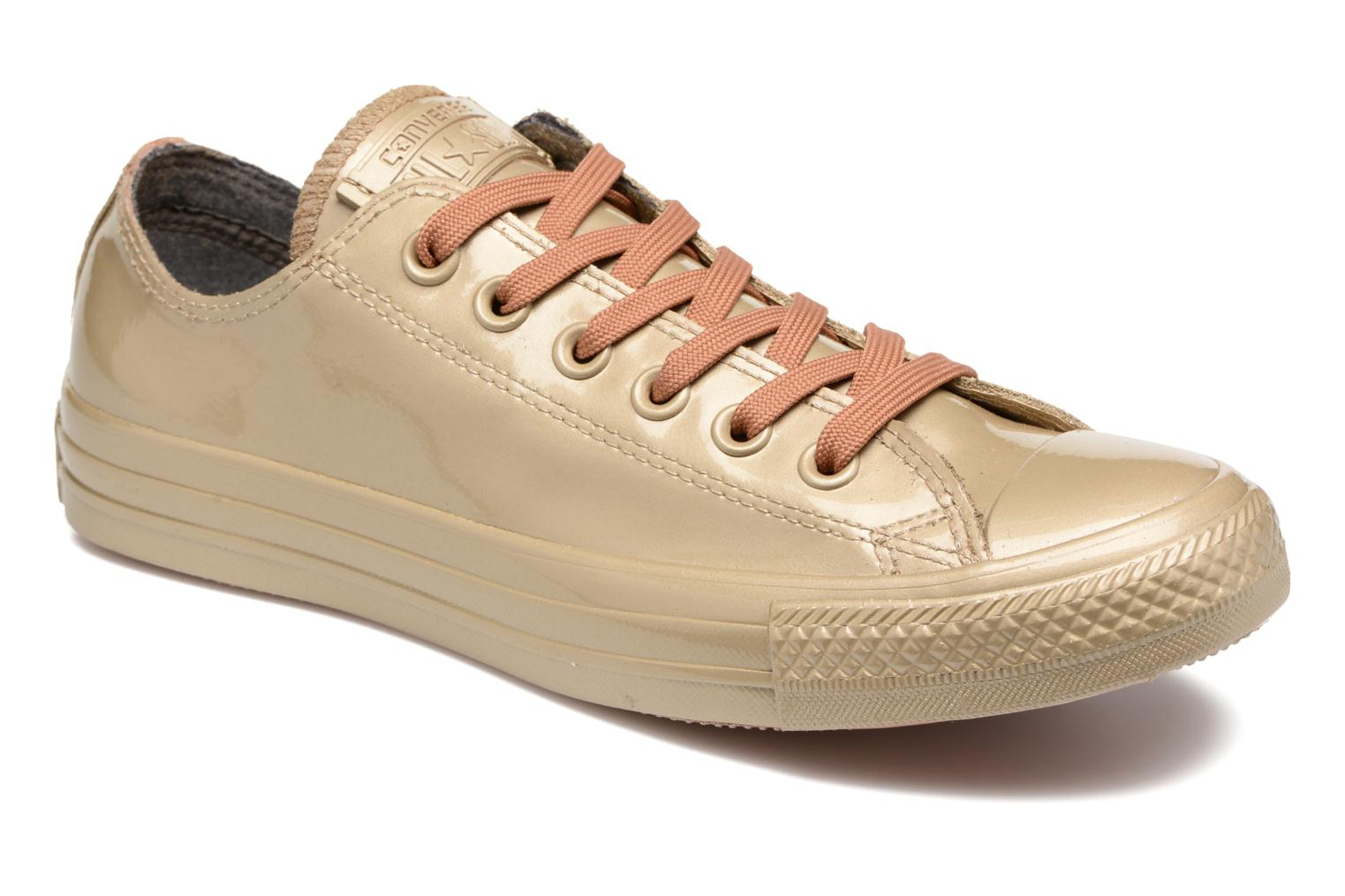 Trainers Converse Ctas Metallic Rubber Ox W Bronze and Gold detailed view/ Pair view