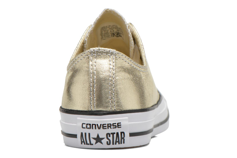 Baskets Converse Chuck Taylor All Star Ox Metallics W Or et bronze vue droite