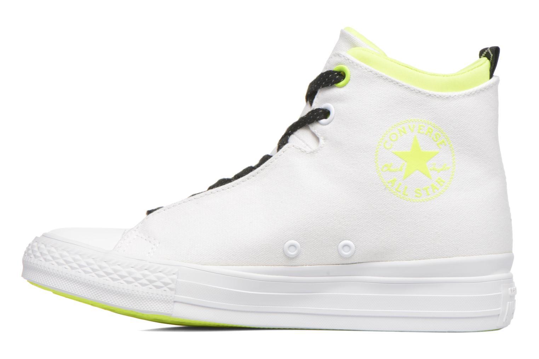 Sneakers Converse Ctas Selene Shield Canvas Mid Bianco immagine frontale