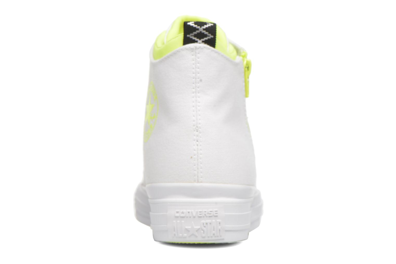 Sneakers Converse Ctas Selene Shield Canvas Mid Bianco immagine destra